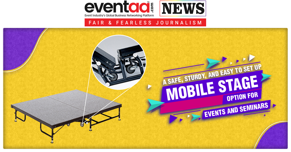 A Safe, Sturdy, and Easy to Set Up Mobile Stage Option for Events and Seminars