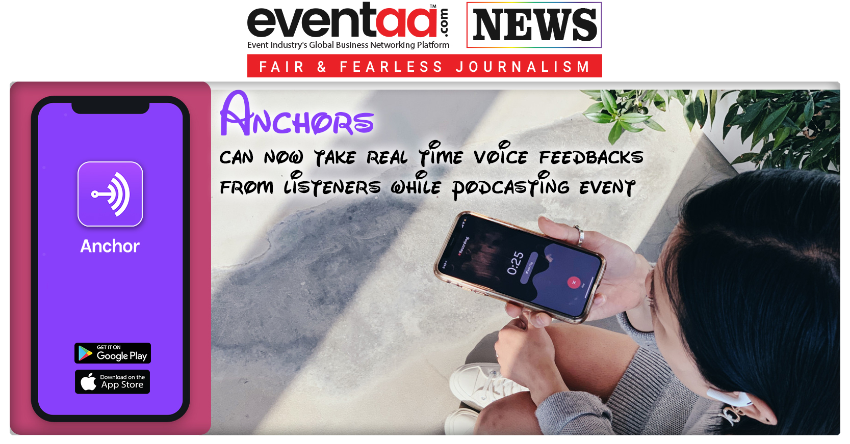 Anchors can now take real time voice feedbacks from listeners while podcasting event